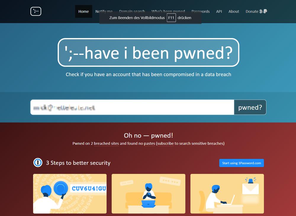 Kostenloses konto für gehackte dating-sites